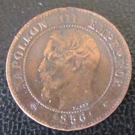 France - Monnaie 2 Centimes Napoléon III 1856 MA (Marseille) - B. 2 Centesimi