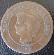 France - Monnaie 5 Centimes Cérès 1885 A - C. 5 Centesimi