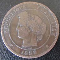 France - Monnaie 10 Centimes Cérès 1882 A (Paris) - D. 10 Centesimi