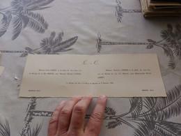 13/9. 60 , Faire-Part De Mariage , Emile Larrey Et Henriette Cabiran, Bassoues Et Mirande, Gers, 1954 - Annunci Di Nozze