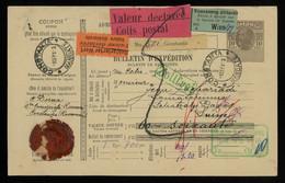 TREASURE HUNT [03402] Romania 1913 10b Parcel Card Sent From Constanta To Davos, Switzerland - Postpaketten