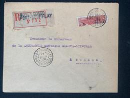 Lettre Recommandée 217/06/1926 Moyen Congo Fort Soufflay Demi Timbre No 103 - Covers & Documents