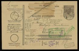TREASURE HUNT [03487] Romania 1912 10b Parcel Card Sent From Bucharest To Switzerland, With Vienna Transit Pmk. On Back - Postpaketten