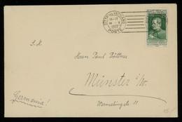 TREASURE HUNT [03500] Vatican 1937 Cover Sent To Münster, Germany Bearing St. John Bosco 25c Single Franking - Cartas