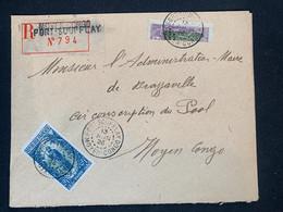 Lettre Recommandée 13/06/1926 Moyen Congo Fort Soufflay Demi Timbre No 87 + No 71 Pour Brazzaville - Covers & Documents