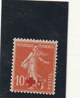 ///    FRANCE  ///     Semeuse Camée Croix Rouge ** N° 146  Côte 7.50 ** - 1906-38 Semeuse Con Cameo