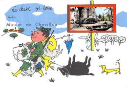 87-SAINT-GENCE- MOULIN DE CHEVILLOU- LA CHASSE EST BONNE AU MOULIN DE CHEVILLOU - Autres Communes