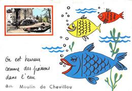 87-SAINT-GENCE- MOULIN DE CHEVILLOU-ON EST HEUREUX COMME DES POISSONS DANS L'EAU AU MOULIN DE CHEVILLOU - Autres Communes