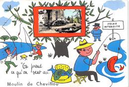87-SAINT-GENCE- MOULIN DE CHEVILLOU-ON PREND CE QU'ON VEUT  AU MOULIN DE CHEVILLOU - Autres Communes