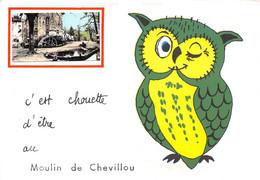 87-SAINT-GENCE- MOULIN DE CHEVILLOU-C'EST CHOUETTE D'ÊTRE  AU MOULIN DE CHEVILLOU - Autres Communes
