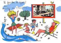 87-SAINT-GENCE- MOULIN DE CHEVILLOU-IL FAIT BON SE REPOSER  AU MOULIN DE CHEVILLOU - Autres Communes