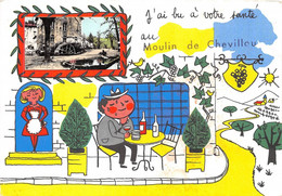 87-SAINT-GENCE- MOULIN DE CHEVILLOU- J'AI BU A VOTRE SANTE AU MOULIN DE CHEVILLOU - Autres Communes