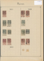 "Fine Barbe / Armoiries - Page De Collection + Préo ""Malines"" (1911 > 1912) - Rollo De Sellos 1900-09"