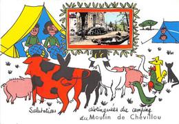 87-SAINT-GENCE- MOULIN DE CHEVILLOU- SALUTATIONS DISTINGUEES DU CAMPING DU MOULIN DE CHEVILLOU - Autres Communes