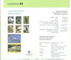 Palestine 2012-Flyer Wildlife In Palestine (English & Arabic) - Palestine