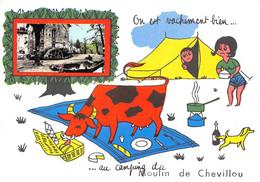 87-SAINT-GENCE- MOULIN DE CHEVILLOU- ON EST VACHEMENT BIEN AU CAMPING DU MOULIN DE CHEVILLOU - Autres Communes