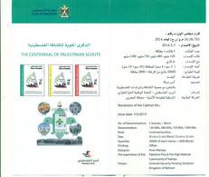 Palestine 2014-The Centennial Of Palestinian Scouts (English & Arabic) - Palestine