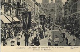 ORLEANS  LES FETES DE JEANNE D'ARC  7& 8 MAI  Le Clergé Des Paroisses RV Beau Timbre 10c J O 1924 - Orleans