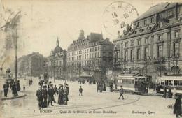 ROUEN  Quai De La Bourse Et Cours Boieldieu  TRAMS RV - Rouen