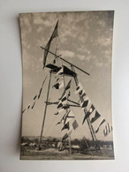 SCOUT Jamboree Paix Carte Photo 1947 Moisson France Tour De Parachutage Scoutisme 9x14cm TBE 2 SCANS - Scouting