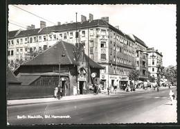 AK Berlin-Neukölln, Strassenpartie Am Bahnhof Hermannstrasse - Neukoelln