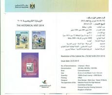 Palestine 2016- Flyer The Historical Visit 2014 (English & Arabic) - Palestine