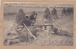 Armée Belge Mitrailleuse Mitrailleurs En Observation Machine Gun - Equipment