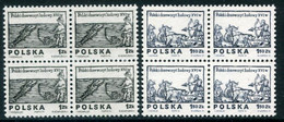 POLAND 1974 Woodcuts Blocks Of 4 MNH / **. Michel 2350-51 - Unused Stamps