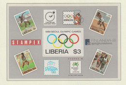 Liberia 1988 Seoul Olympic Games Souvenir Sheet MNH/** (H70) - Summer 1988: Seoul