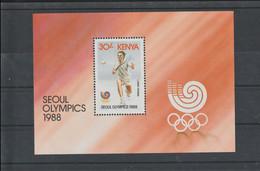 Kenya 1988 Seoul Olympic Games Tennis Souvenir Sheet MNH/** (H70) - Summer 1988: Seoul
