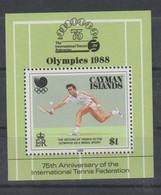 Cayman Islands 1988 Seoul Olympic Games Tennis Souvenir Sheet MNH/** (H70) - Summer 1988: Seoul