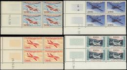 ** POSTE AERIENNE - 30/33 Types Divers D'Avions, BLOCS De 4 CD Datés, TB - 1927-1959 Mint/hinged