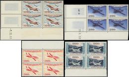 ** POSTE AERIENNE - 30/33 Types Divers D'Avions, La Série En BLOCS De 4 Bdf Ou Cdf, TB - 1927-1959 Mint/hinged