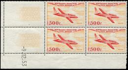 ** POSTE AERIENNE - 32  500f. Magister, BLOC De 4 CD 9/12/53, TB - 1927-1959 Mint/hinged