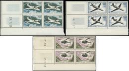 * POSTE AERIENNE - 35/37 Avions Et Hélicoptère, BLOCS De 4 CD, TB - 1927-1959 Mint/hinged