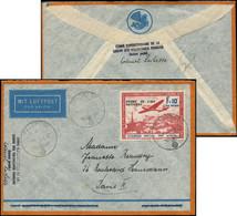 """Let Spécialités Diverses - L.V.F. 5 : F + 10f. Carmin Et Bleu Obl. FELDPOST 5/3/42 S. Env. Par Avion, Griffe Linéaire """"C - Kriegsausgaben"""