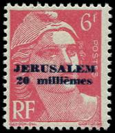 ** Spécialités Diverses - JERUSALEM 3 : 20m S. 6f. Rouge, TB. Br - Kriegsausgaben
