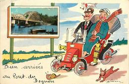 St Laurent Les églises * Le Pont Du Dognon * Souvenir De La Commune * Illustrateur Voiture - Autres Communes