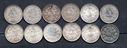 Allemagne - Empire - Lot De 12 Monnaies - 1/2 Mark Argent - Années Différentes - SUPERBE - Belle Cote - 1/2 Mark