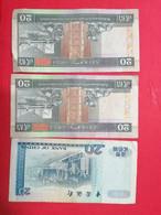 3 BANCONOTE HONG KONG 20 DOLLARS  -   C8P13 - Hong Kong