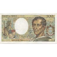 France, 200 Francs, Montesquieu, 1986, TB+, Fayette:70.06, KM:155a - 200 F 1981-1994 ''Montesquieu''