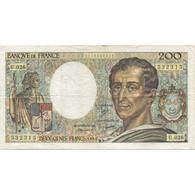France, 200 Francs, Montesquieu, 1984, TTB, Fayette:70.04, KM:155a - 200 F 1981-1994 ''Montesquieu''