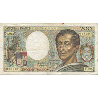 France, 200 Francs, Montesquieu, 1984, TB+, Fayette:70.04, KM:155a - 200 F 1981-1994 ''Montesquieu''