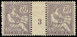 * Millésimes Des Colonies - CHINE 28 : 30c. Violet, PAIRE Mill.3, TB - Non Classificati