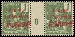 * Millésimes Des Colonies - KOUANG-TCHEOU 1 : 1c. Olive, PAIRE Mill.6, TB - Ohne Zuordnung