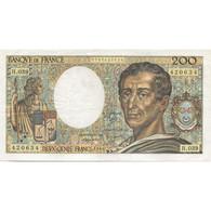 France, 200 Francs, Montesquieu, 1986, TTB, Fayette:70.06, KM:155a - 200 F 1981-1994 ''Montesquieu''