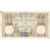 France, 1000 Francs, Cérès Et Mercure, 1937, 1937-07-15, TB+, Fayette:38.2 - 1 000 F 1942-1943 ''Déesse Déméter''