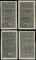 ** ALGERIE -  Colis Postaux 51aa/54aa : Série De 1938 Non Dentelée, Sans Surch., TB - Paketmarken