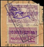 ALGERIE -  Colis Postaux 105 : 5.80 Sur 4f15 Lilas Et N°110 0.45 Lilas Obl. ALGER 22/6/43 S. Fragt, TB - Paketmarken