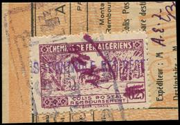 ALGERIE -  Colis Postaux 107 : 10,30 Sur 8f25 Lilas Obl. ALGER 3/6/43 S. Fragt, TB - Paketmarken